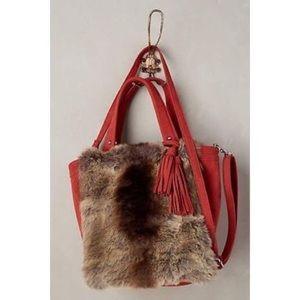 Anthropologie faux fur bag
